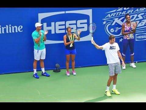 Monica Puig, Juan Martin Del Potro, Venus Williams At US Open Arthur Ashe Kids Day 2016, New York