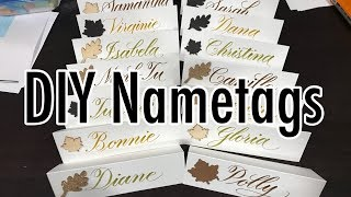 How to: DIY Nametags | YouTober Day 18