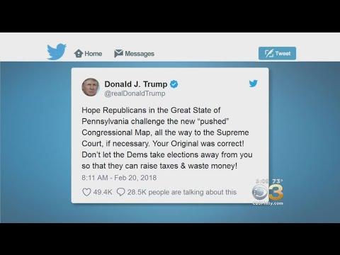 Trump Reacts To Pennsylvania Supreme Court's New Congressional Map
