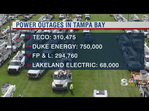 Power outages in Tampa Bay as of Monday night