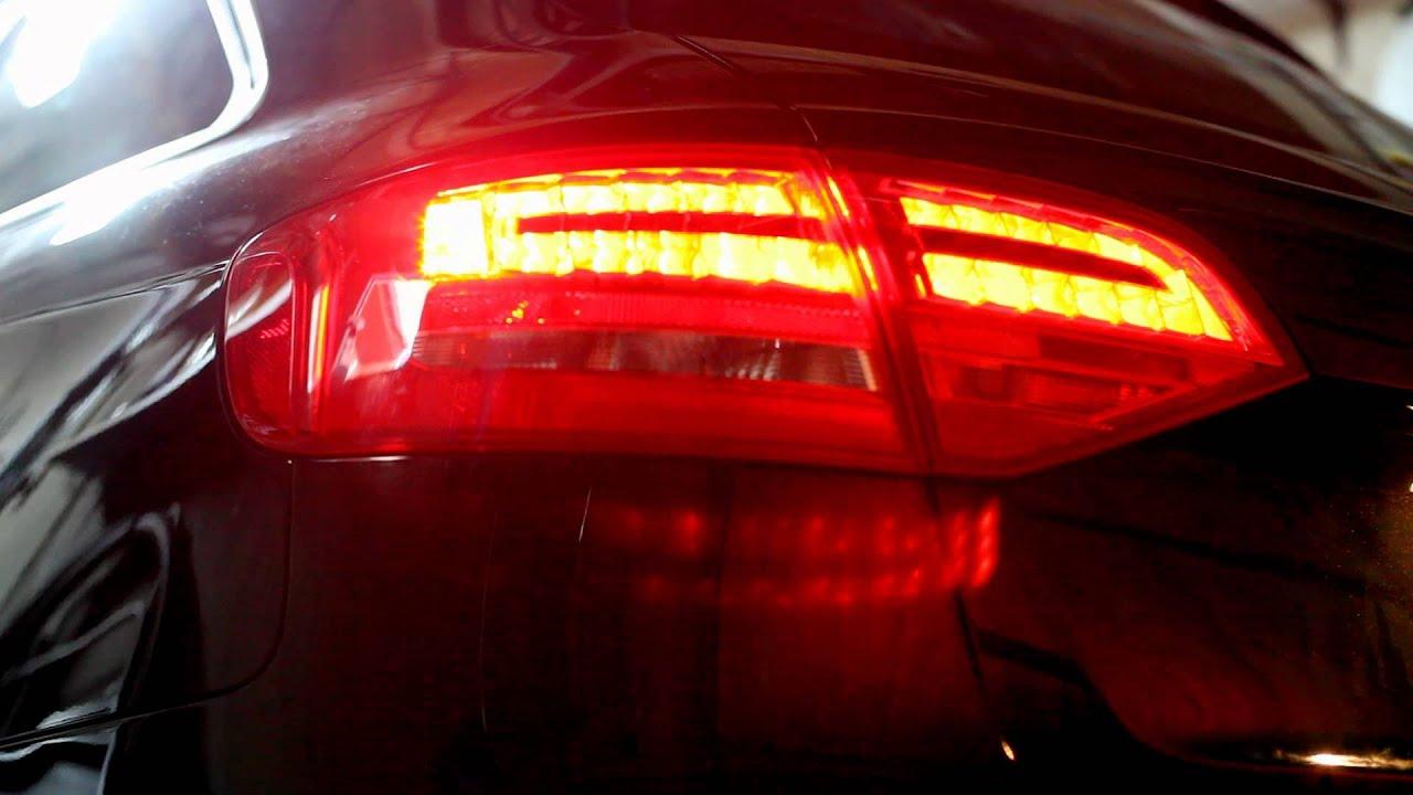Audi a4 b8 2011 { rear standart light US } change {LED EU } Zmiana lamp z usa na europe - YouTube