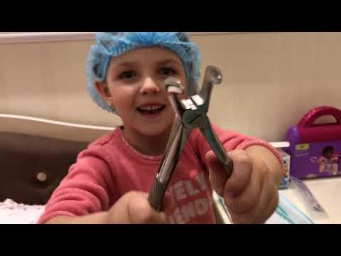 КАТЯ сегодня ВРАЧ СТОМАТОЛОГ - у куклы Baby Born болит зуб!