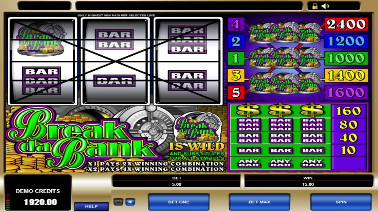 Break The Bank Slot Machine