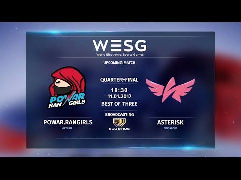 Powar Rangirls vs Asterisk fe - WESG 2017 APAC FINALS - Female