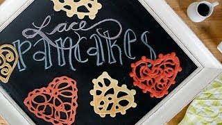 How To Make Pretty Lace Pancakes | Just Add Sugar