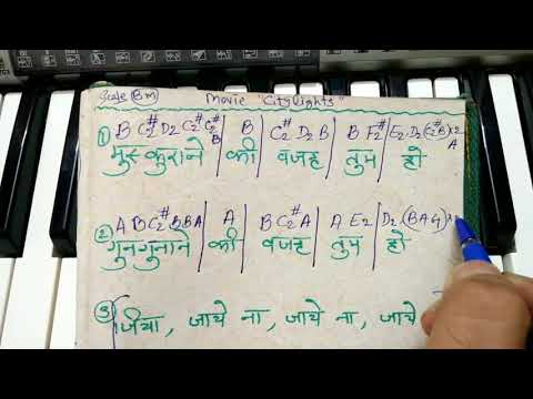Notations of Muskurane ki wajah tum ho