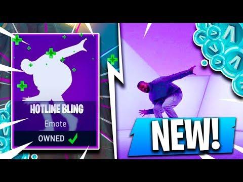 *NEW* HOTLINE BLING EMOTE!! ( Fortnite Hidden Update Concepts )