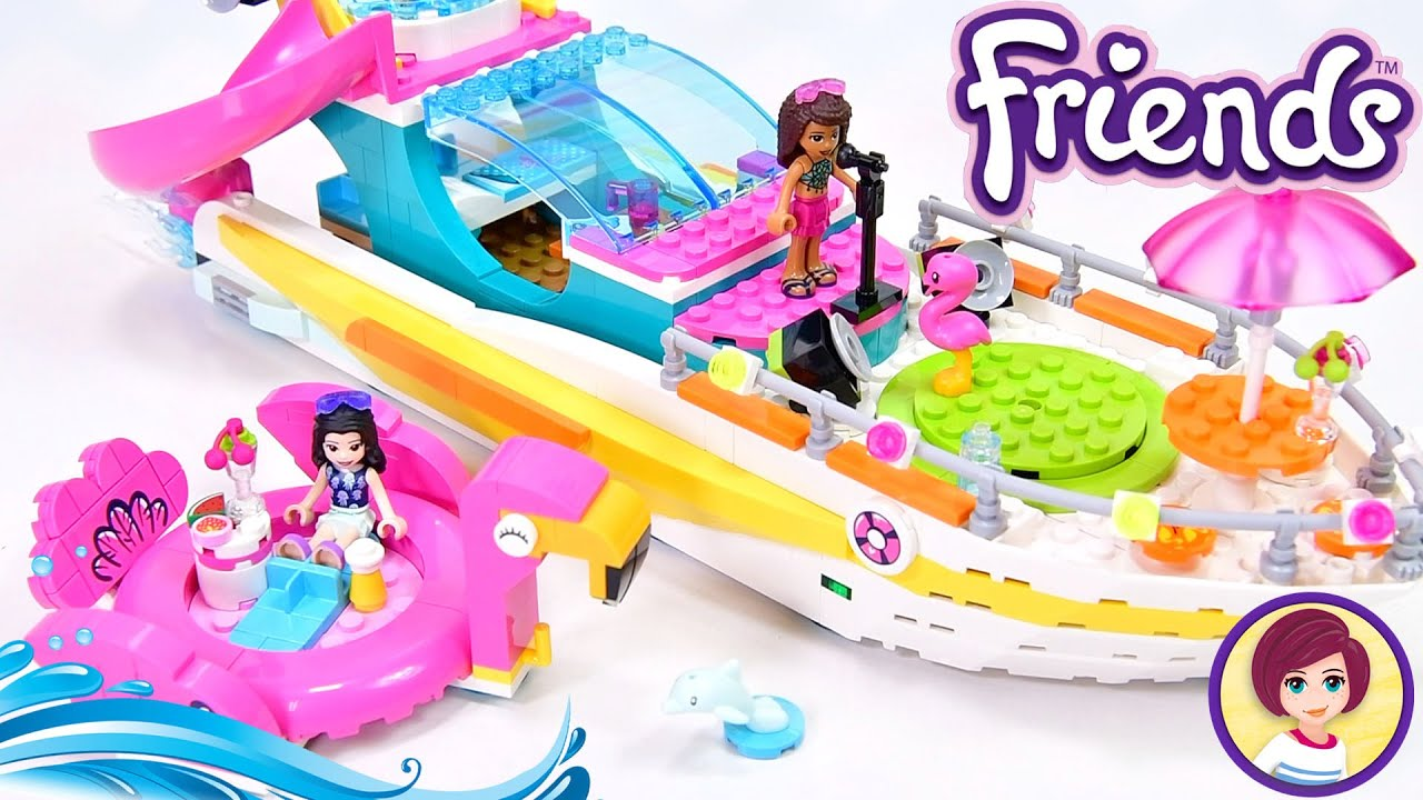 All aboard it's party time 🥳🏖! Soon. Gotta finish building first - Lego Friends Party Boat Review