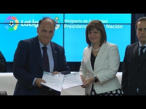 El ministerio de seguridad de la naci n y la liga de for Ministerio de seguridad espana