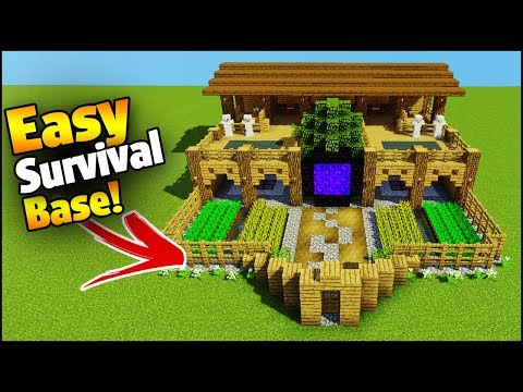 Minecraft: 4 Player Ultimate Survival Base - Easy Tutorial (Everything You Need To Survive!)