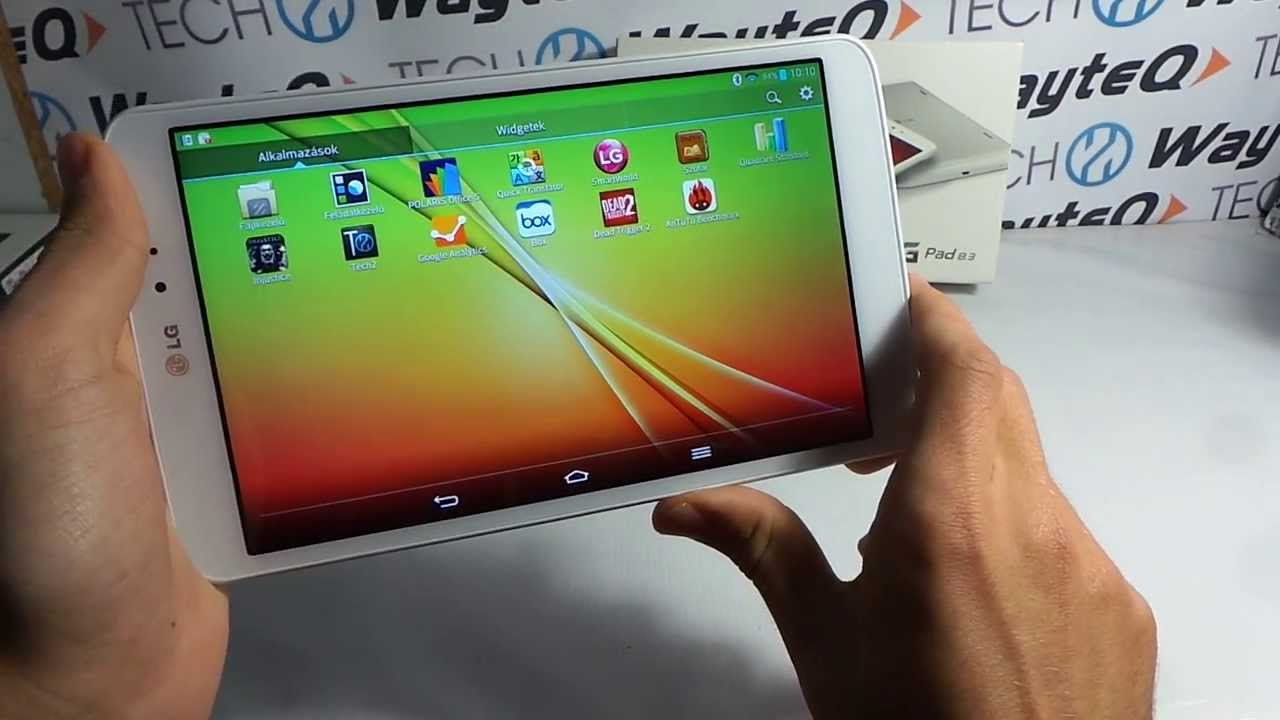 LG G Pad 8.3 Android tablet bemutató videó @ Tech2.hu ...