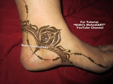 stunning gulf style rose flowery side feet henna mehndi design art tutorial youtube. Black Bedroom Furniture Sets. Home Design Ideas