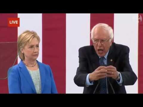 Bernie Sanders praises Hillary Clinton
