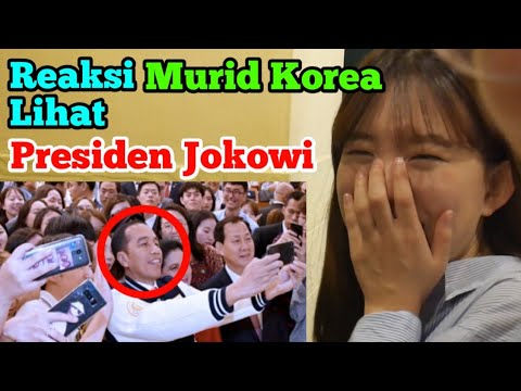 Reaksi Murid Korea Lihat Presiden Jokowi