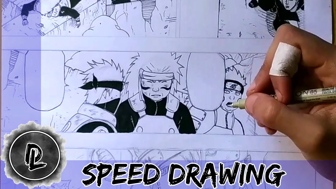 SPEED DRAWING - NARUTO / PAIN VS KONOHA #2