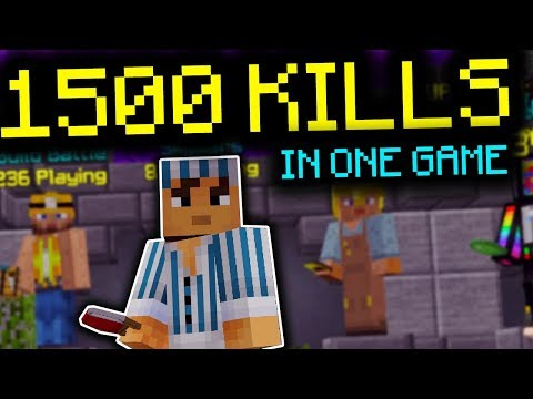 Beating The Hypixel Bedwars WORLD RECORD Kill Count! (1,500 KILLS)
