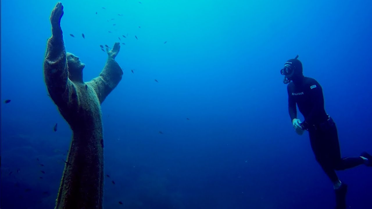 "Image result for ""Christ of the Abyss"", San Fruttuoso, Italy"