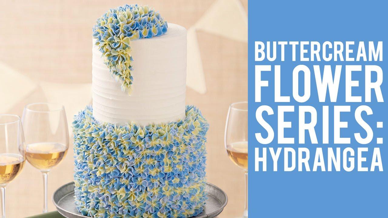 Buttercream Flowers: The Hydrangea - YouTube