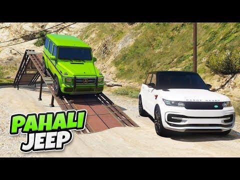 Pahalı Jeep Arabalar Zorlu Parkuru Geçiyor