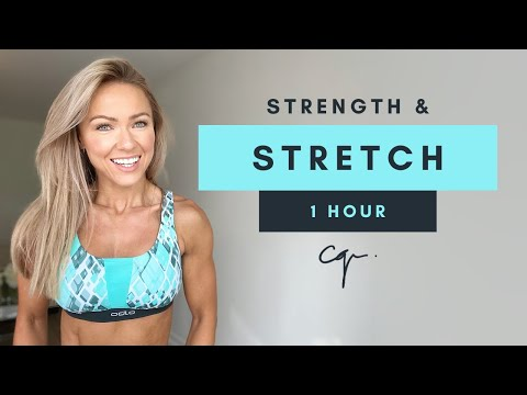 1 Hour STRENGTH & STRETCH WORKOUT at Home | Day Five of Five