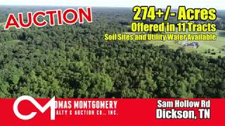 Auction 9/14/19 in Dickson, TN - 274+/- Acres Offered in 11 Tracts