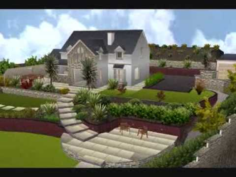 stone art 3d garden design youtube. Black Bedroom Furniture Sets. Home Design Ideas
