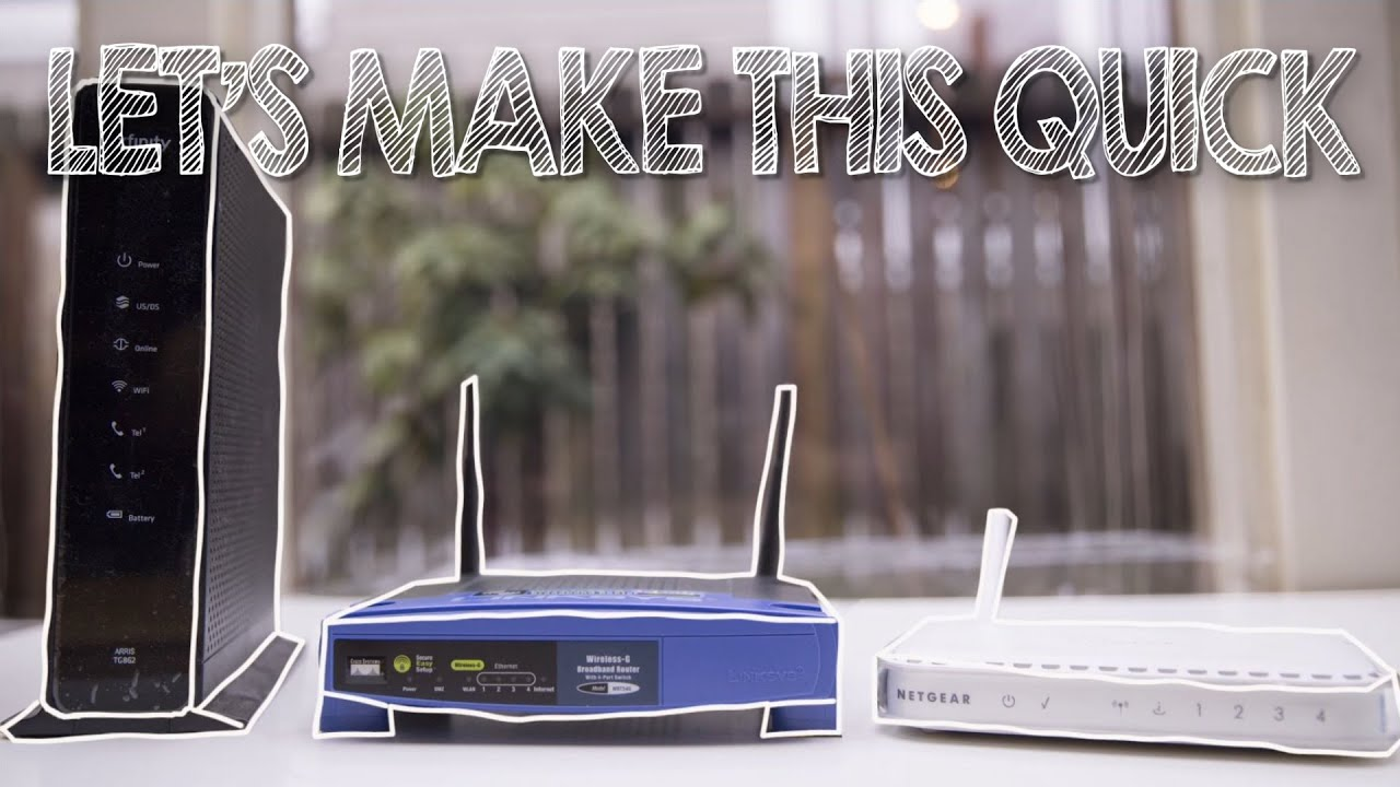 How To Hide Your Modem - YouTube