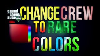 GTA 5 Online - How To Change Crew Colors with Just HEX! Rare Paint Jobs Crew Colors! (GTA V Rare)