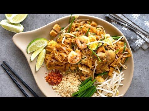 Easy Pad Thai Recipe   Thai Stir Fry Rice Noodles