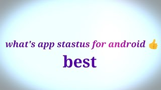 What's app stastus in android