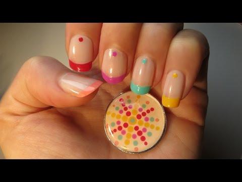 Rainbow Nail Art & Pendant  DIY