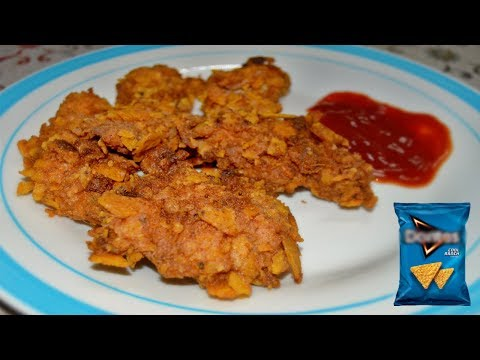 [Mauritian Cuisine] DFC Doritos Fried Chicken Tenders Recipe [Tasty and Crispy]