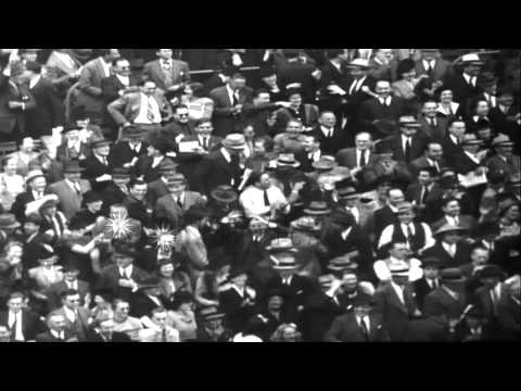 Cincinnati Reds and Detroit Tigers playing in final game of the 1940 World Series...HD Stock Footage