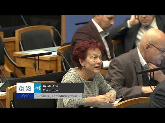 Riigikogu infotund, 26. september 2018