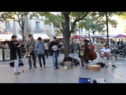 Street musicians. Montpellier. France.