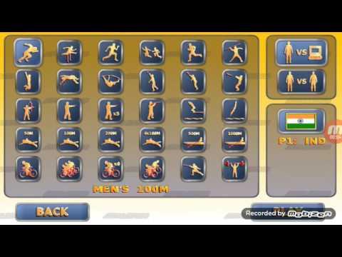 Athletics summer sports 2 (Gameplay) 100m,110m hudules,400m,100×4m,1500m