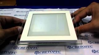 видео Встраиваемые квадратные светильники в потолок