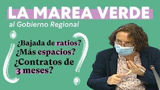 La Marea Verde valora la vuelta a las aulas en la Región de Murcia.