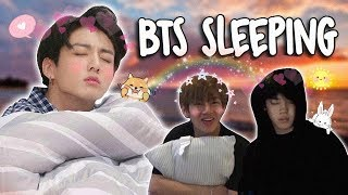 BTS Sleeping!