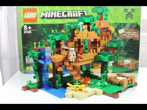 LEGO Minecraft 2016 Set 21125 Das Dschungel Baumhaus Unboxing U0026 Review  Deutsch German