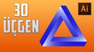 illustrator Dersleri   Üç boyutlu üçgen nasıl yapılır?