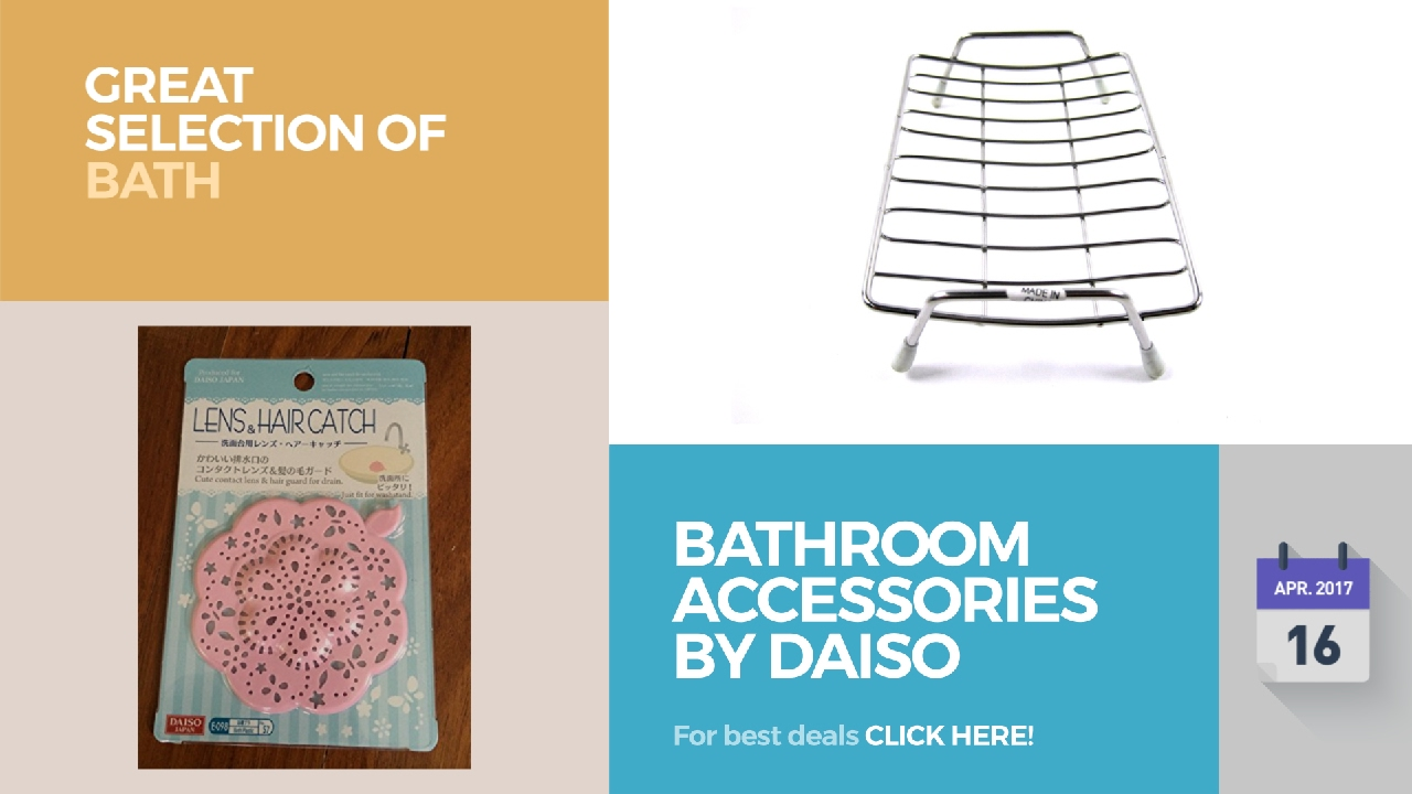 Bathroom Accessories By Daiso Great Selection Of Bath Products - YouTube