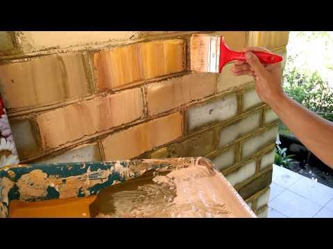 технология покраски кирпича в РИМСКУЮ СТЕНУ, technology painting brick Roman wall