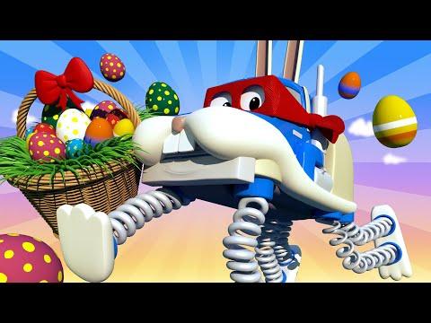 Día de Pascua : El Conejito de Pascua - Carl el Super Camión en Auto City   Dibujos animados