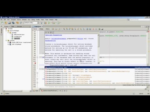 Netbeans Java Login Application + MySQL