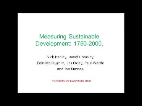 Measuring Sustainable Development 1750 2000