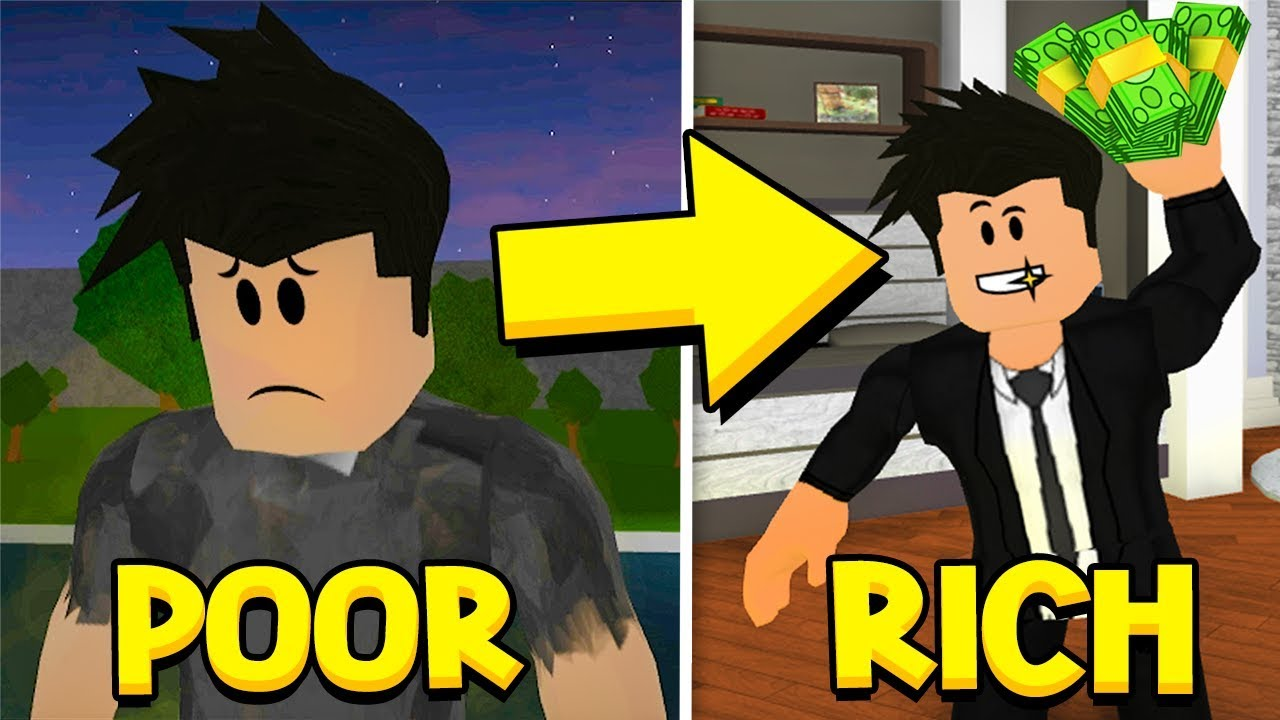Bloxburg Poor To Rich A Sad Roblox Story Youtube