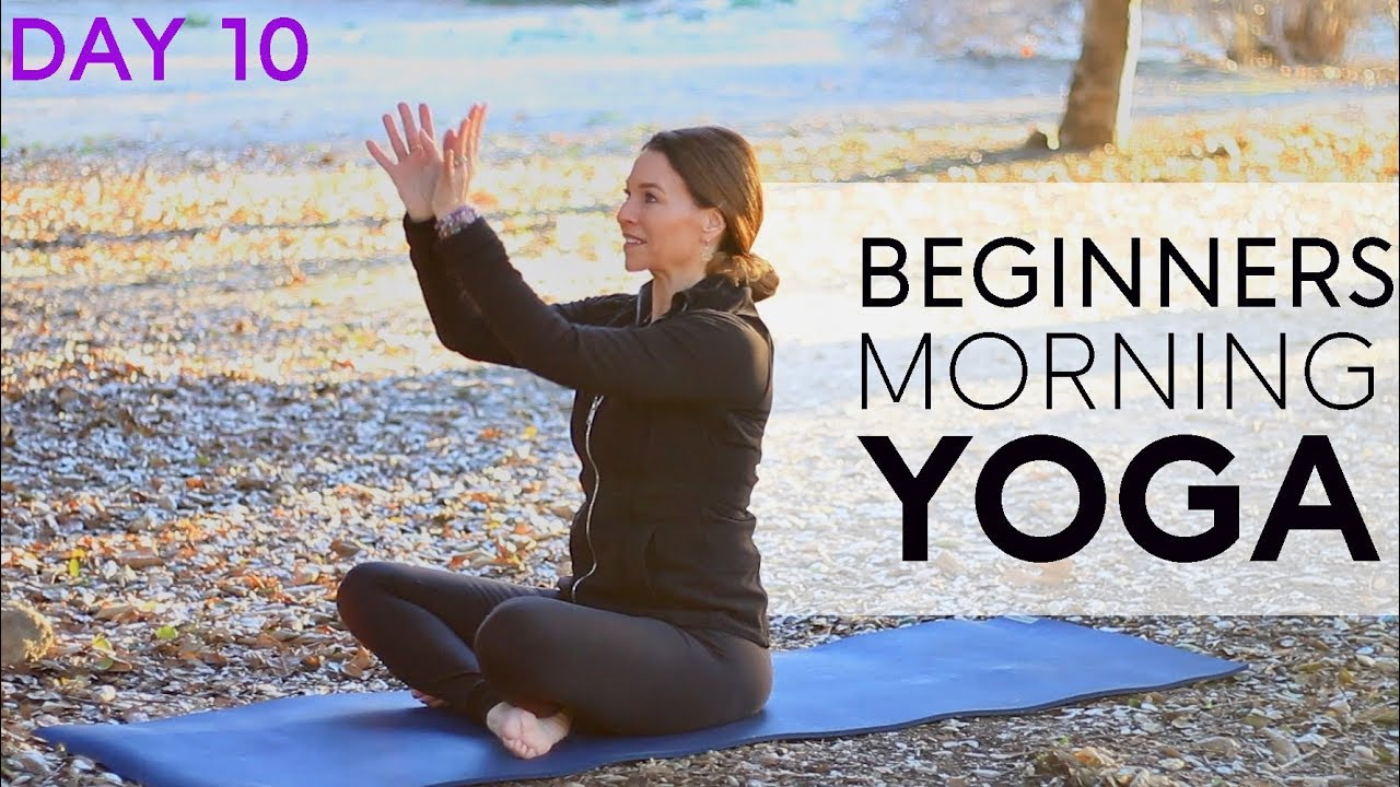 Morning Yoga For Beginners (15 min) Day 10 | Fightmaster Yoga Videos
