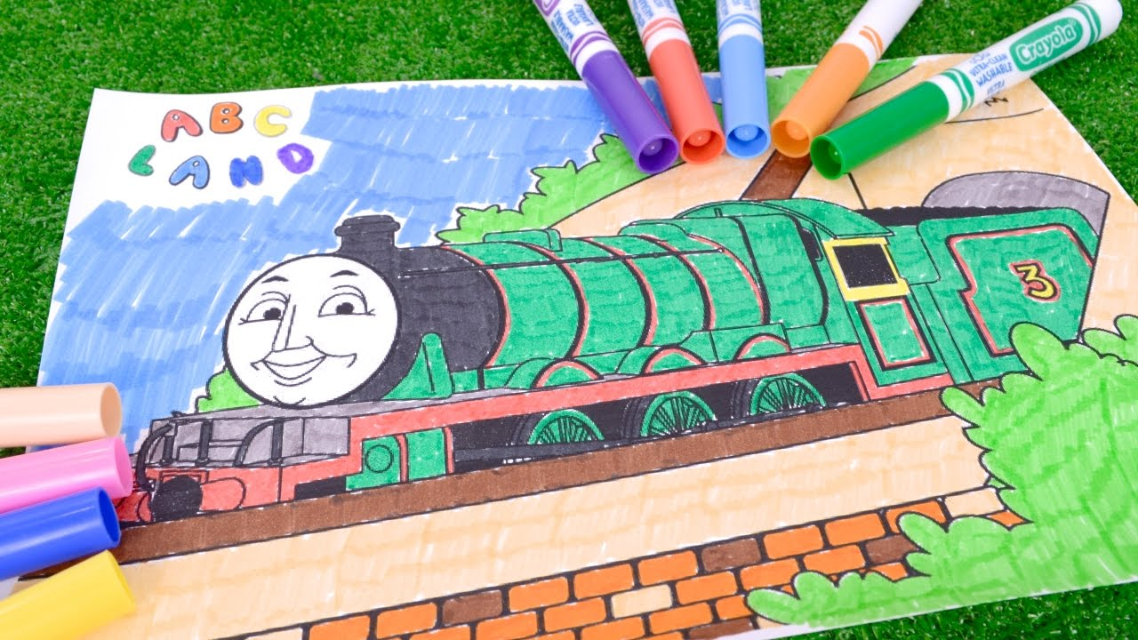 how to coloring henry green engine thomas and friends