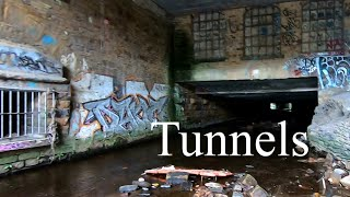 Captive river in the tunnels under town. Mudlarking and urban exploring.